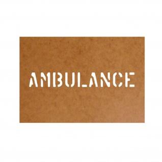 Ambulance Schablone Ölkarton Lackierschablone 2, 5x18cm #15187