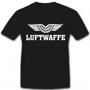 Militär Bundeswehr Luftwaffe Wappen Abzeichen Deutschland - T Shirt #3269