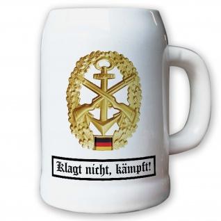 Krug / Bierkrug 0, 5l - Barettabzeichen MSK Marine Sicherungskräfte #11821