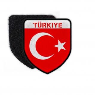 Patch Türkiye TYP2 Flagge Fahne TürkeiTürk bayragi Aufnäher Halb #25181