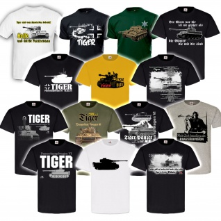Tiger Panzer Panzerkampfwagen VI Tank SdKfz Division Legende Heer T Shirt