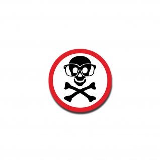 Aufkleber/Sticker Achtung Schutzbrillen Totenschädel Totenkopf 7x7cm A1563