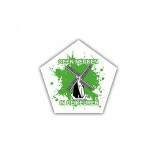 Aufkleber/Sticker Geeneulken Windmühle Niederlande Holland 7x7cm A1693