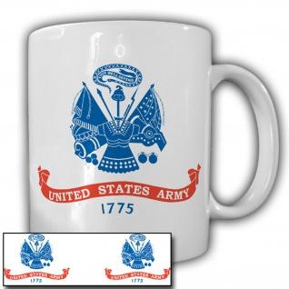 United States Army 1775 beidseitig Amerika Militär Wappen Heer Tasse #15334