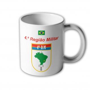 4ª Regiao Militar Brasilien Armee Wappen Tasse #33401