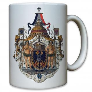 Kaiserwappen Preußen Deutschland Emblem Wilhelm Friedrich - Tasse Kaffee #9561