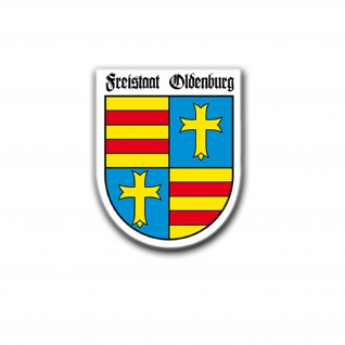 Aufkleber/Sticker Freistaat Oldenburg Auto Aufkleber Altes Wappen 5x4cm #A671