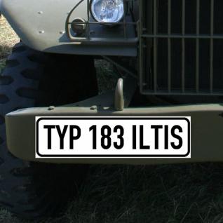Magnetschild Typ 183 Iltis Bundeswehr Militärfahrzeug Oldtimer #A1431