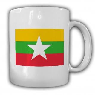 Republik der Union Myanmar Fahne Flagge Kaffee Tasse #13813