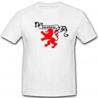 Hessen Banner Löwe Stadtwappen Heimat Deutschland Brd - T Shirt #5194