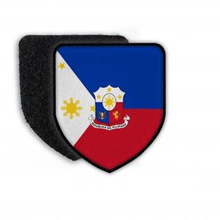 Patch Landespatch Philipienen Manila Filipino Englisch Wappen Löwe Sterne #21959