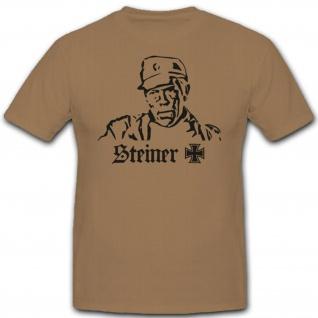 Steiner Eisernes Kreuz Film Kino WK Deutschland- T Shirt #2183