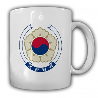 Südkorea Wappen Emblem Republik Korea Daehan Minguk - Kaffee Tasse #13661
