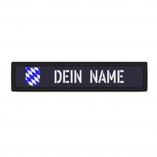 Patch Personalisiert Namens-Schild Bayern Klett Streifen Bavaria #37678