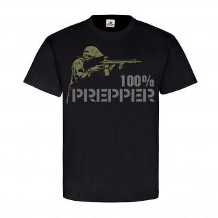 100% Prepper to be prepared Katastrophe Apokalypse Survival T Shirt #18670