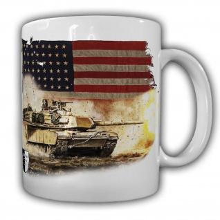 Tasse Lukas Wirp M1 US Tank Panzer Kunst Druck Amerika Flagge Feuer #23557