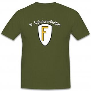 10InfDiv Infanterie Division Wh Wk Militär Deutschland Regensburg- T Shirt #9938