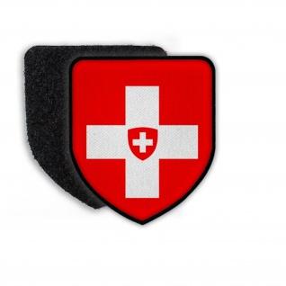 Patch Flagge von der Schweiz Switzerland Flagge Land Staat Wappen Aufnäher#21383