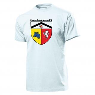 Panzerjägerkompanie 210 - PzJgKp 210 Bundeswehr Heer Wappen - T Shirt #11189