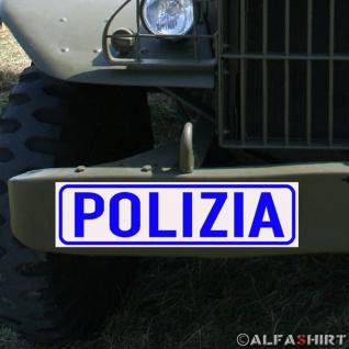 Magnetschild Polizia / Polizei für KFZ Fahrzeuge Kübel #A170
