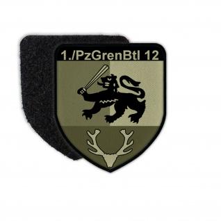 Patch 1 PzGrenBtl 12 getarnt Panzergrenadier Kompanie Bataillon Abzeichen #35421