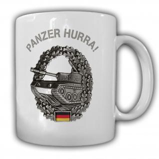 Panzer Hurra Barett BW Militär Deutschland Soldat Truppengattung - Tasse #26595