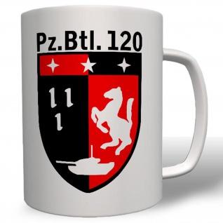 PzBtl 120 Panzer Bataillon Bundeswehr Wappen Abzeichen - Tasse Kaffee #3485