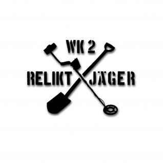 Aufkleber/Sticker WK2 Reliktjäger Bodenfund Metallsuchgerät Metall 42x30cm A1821