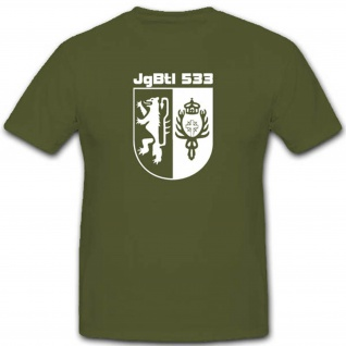 Jägerbataillon 533 Bundeswehr Einheit Düren JgBtl533 Wappen T Shirt #3096