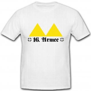 16. Armee deutsches Militär WK 2 Wappen Abzeichen Emblem - T Shirt #5154