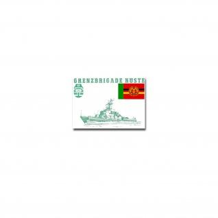 Grenzbrigade Küste Aufkleber Sticker GBrK Grenztruppen DDR 10x7cm#A4247