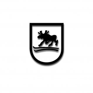 Aufkleber/Sticker 163 InfDiv Trabender Elch Wappen Truppenzeichen 10x8cm A3290