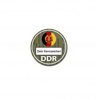 DDR Umweltplakette NVA Umweltzone Ostdeutschland Tuning Humor 8cm #A4816
