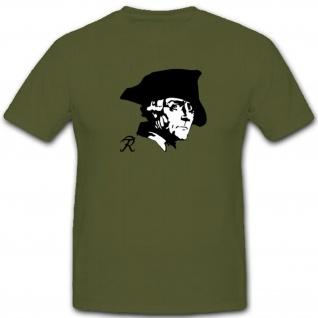Friedrich Der Große Fridericus Rex Logo Wappen Abzeichen Preußen - T Shirt #3611