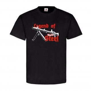 Legend of Steel Mg34 Maschingewehr Wh Waffe Deko T-Shirt SW #22882