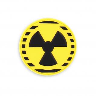 3D Rubber Patch Nuclear Atom Abzeichen Energie Warn Aufnäher 6, 8cm #37783