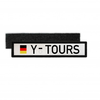 Namenspatch Y Nummernschild Tours Kennzeichen BW Deutschland Militär #30634