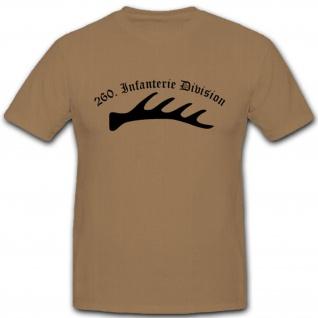 260 Infdiv 260 Infanterie Division Wh Wappen Abzeichen Emblem T Shirt #3044