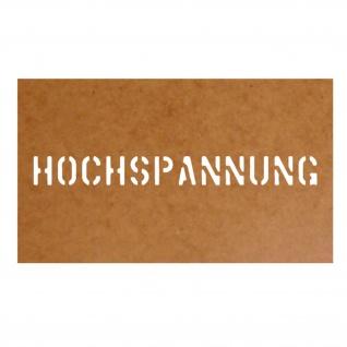 Hochspannung Us Army Frieden Stencil Ölkarton Lackierschablone 2, 5x25cm #15252