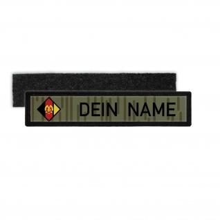 DDR NVA Namenschild Patch mit Namen Strichtarn Nationale Volksarmee #24348