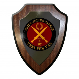 Wappenschild / Wandschild / Wappen - Gaius Julius Caesar VENI VIDI Kam #11701