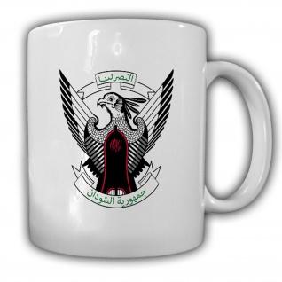Tasse Republik Sudan Wappen Emblem Kaffee Becher #13923
