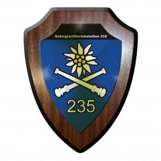 Wappenschild / Wandschild / Wappen - GebirgsArtillerieBataillon 235 Alpen #9231