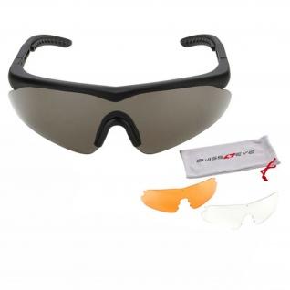 Tactical Schutzbrille Raptor Sportbrille Glas wechselbar Airsoft SCHWARZ #17826