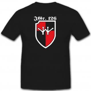 Jagdgruppe Jagdgeschwader 126 Militär WH Einheit Wappen T Shirt #1930