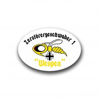 Aufkleber/Sticker ZG 1 Wespen Luftwaffe Insekt Zerstörergeschwader 10x7cm A943