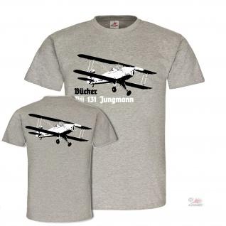 Bücker Bü 131 Jungmann Doppeldecker Flugzeug Luftwaffe Sport T-shirt #19706