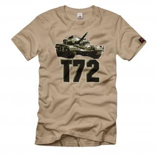 T72 Panzer Russland Kampfpanzer Tank Front Russia DDR Polen CSSR T-Shirt#34469