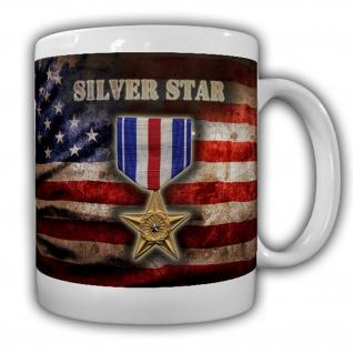 Silver Star Us Army Orden Auszeichnung Verdienst Abzeichen Tapfer Tasse #15851