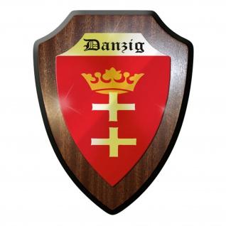 Wappenschild / Wandschild / Wappen - Danzig Fahne Polen Poland Wappen #9028